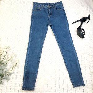 Denim - Ultra Skinny fit extra small skinny jean mid waist